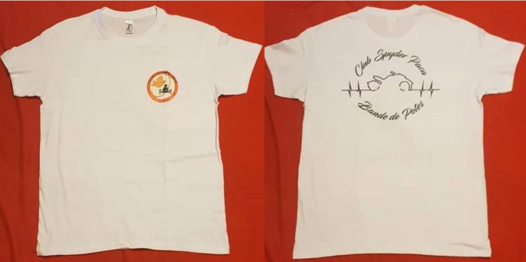 T-Shirt mixte blanc  - modèle 2019 - du S au XXXL - 20 €