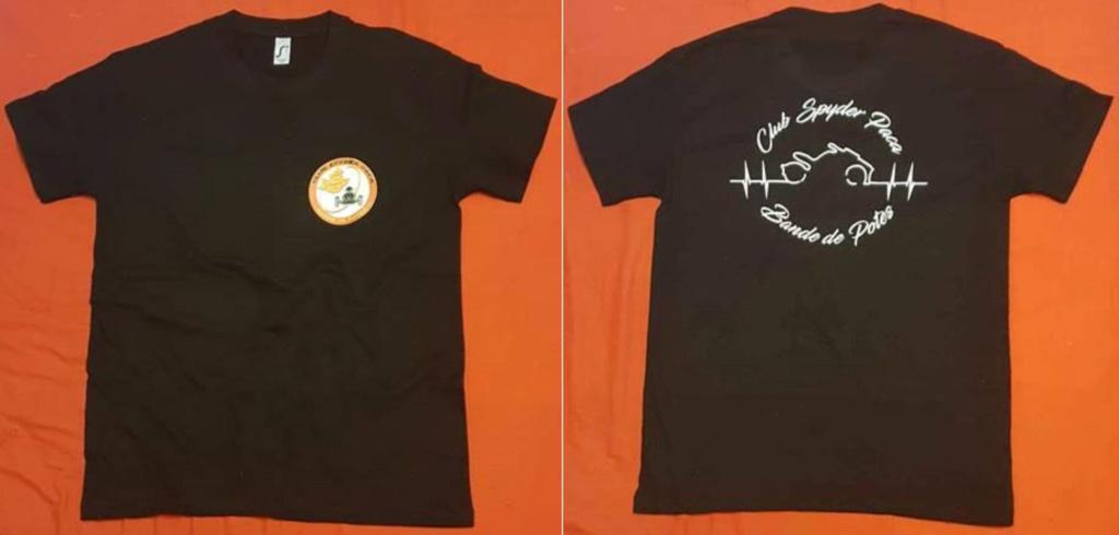 T-Shirt mixte noir  - modèle 2019 - du S au XXXL - 20 €