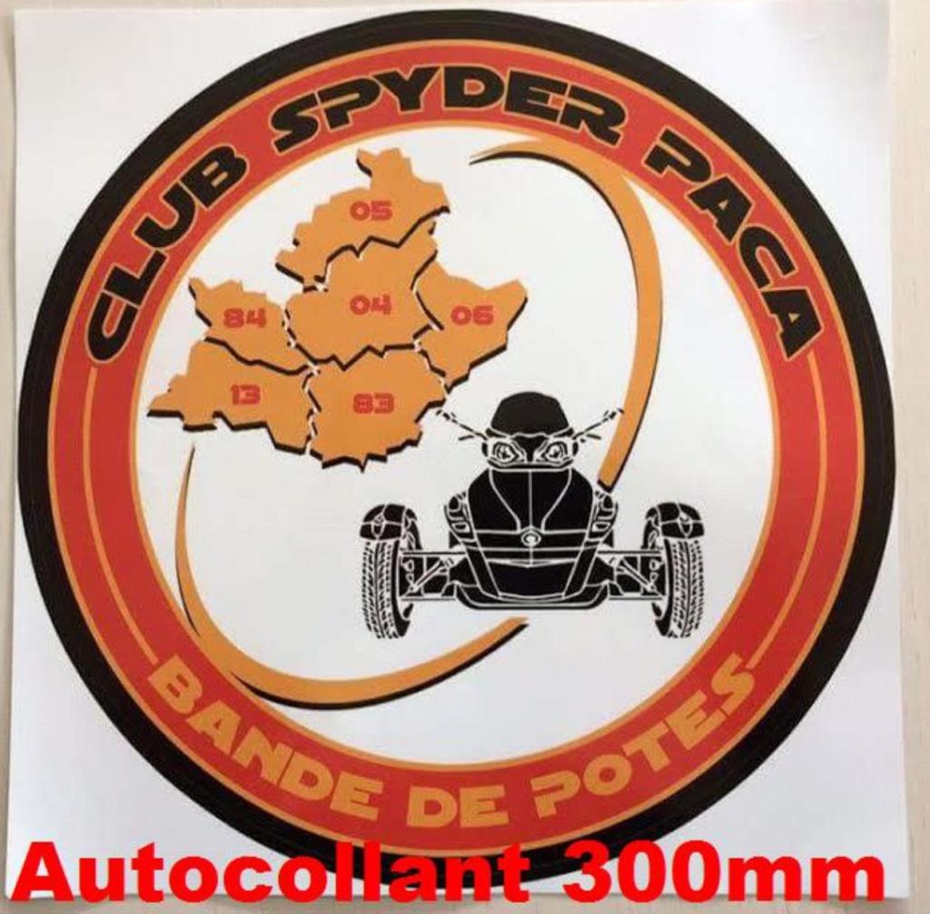 Autocollant 300 mm - 15 €