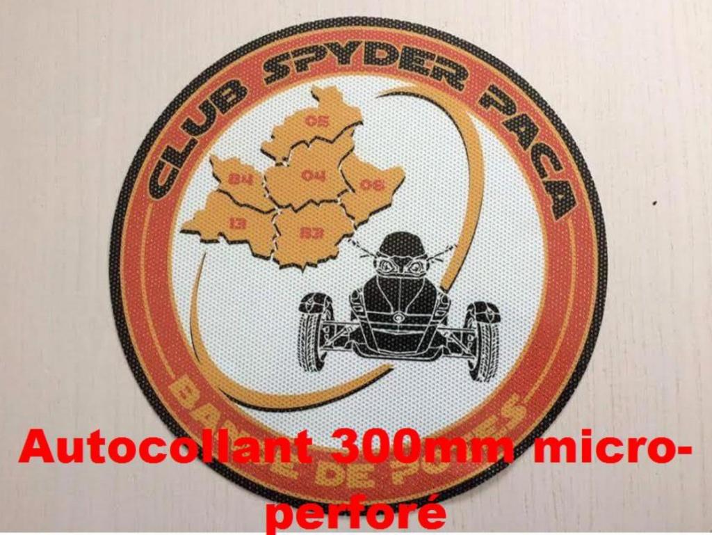 Autocollant micro-perforé 300 mm - 18 €
