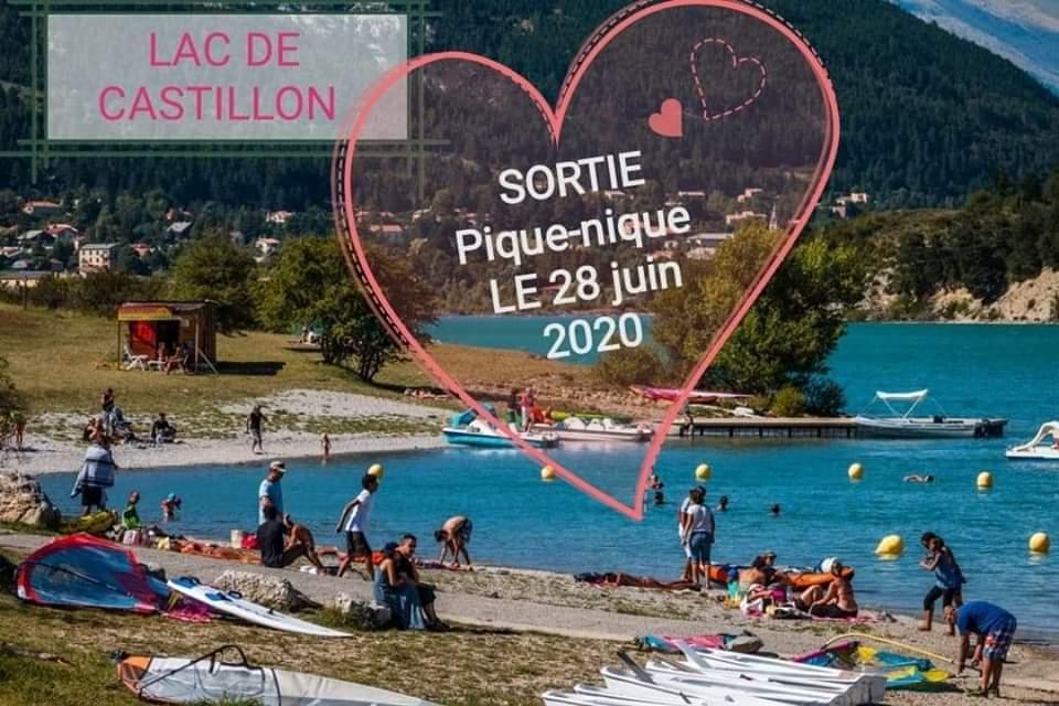 Sortie pique-nique Lac de Castillon
