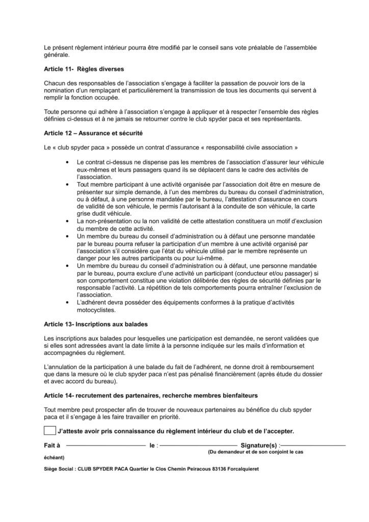 Règlement intérieur page 3